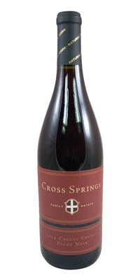 Cross Springs Pinot Noir Colusa County 2014