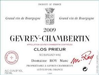 Domaine Marc Roy Gevrey Chambertin Clos Prieur 2013
